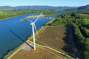 Site industriel et fluvial de Le Pouzin (barrage, parc éolien et parc photovoltaïque)