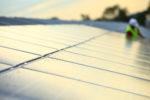 France, Gard (30), Beaucaire, parc photovoltaique de la Compagnie Nationale du Rhone