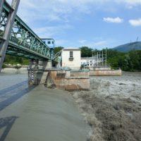 France, Haute Savoie (74), Seyssel, Barrage usine sur Le Rhone de Seyssel pendant les Chasses Suisses du Rhone